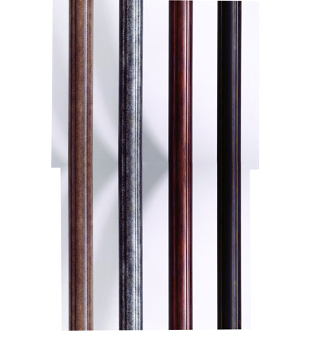 Troy Lighting P8682NB Extruded Aluminum Fluted 84 inch Natural Bronze Mounting Post photo