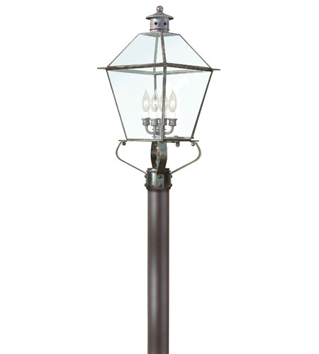 Troy Lighting P8958NR Montgomery 4 Light 26 inch Natural Rust Post Lantern in Clear photo