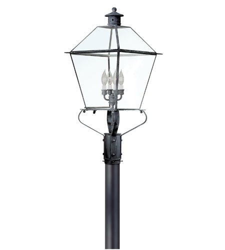 Troy Lighting P8961CI Montgomery 4 Light 32 inch Charred Iron Post Lantern in Clear photo