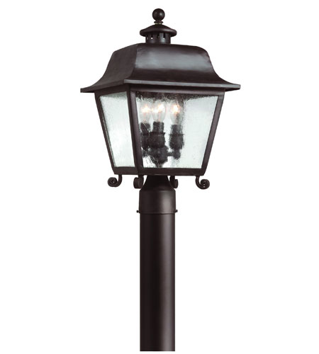 Troy Lighting Bristol 3 Light Post Lantern in Natural Bronze P9444NB photo