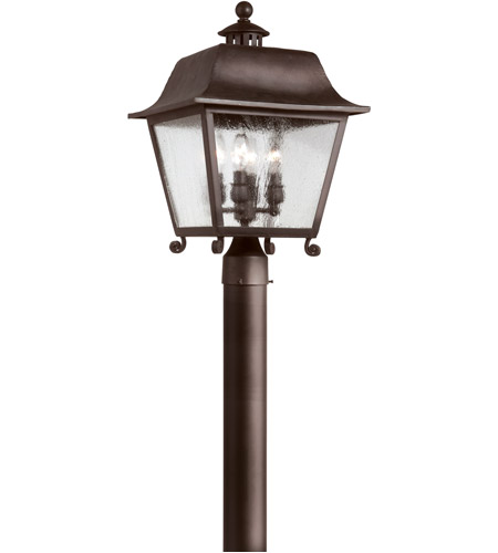 Troy Lighting Bristol 4 Light Post Lantern in Natural Bronze P9445NB photo