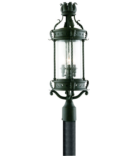 Troy Lighting Los Feliz 3 Light Post Lantern in Old Bronze P9636OBZ photo