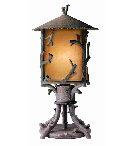 Troy Lighting Cheyenne 1 Light Outdoor Post Lantern in Hickory PA8737HK photo