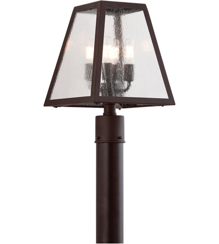 Troy Lighting PCD3435 Amherst 4 Light 15 inch River Valley Rust Post in Clear Seeded photo