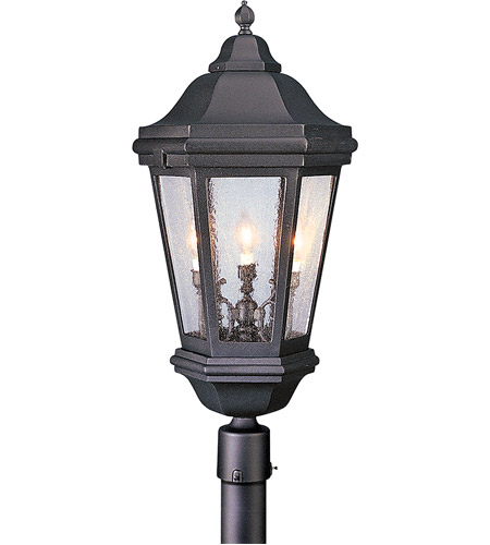 Troy Lighting PCD6835MB Verona 3 Light 34 inch Matte Black Post Lantern in Incandescent photo