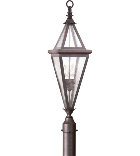 Troy Lighting Geneva 2 Light Post Lantern in Old Rust PCD8995OR photo