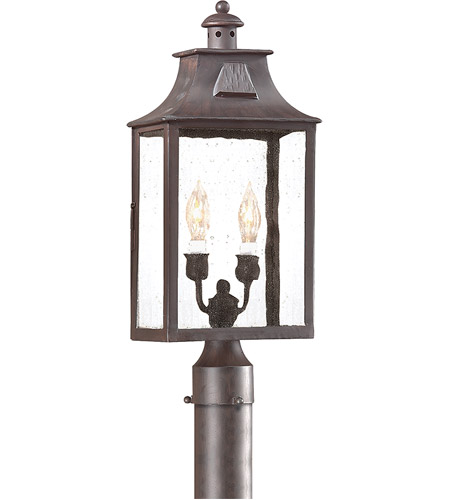 Troy Lighting Pcd9003obz Newton 2 Light 21 Inch Old Bronze Post Lantern In Incandescent