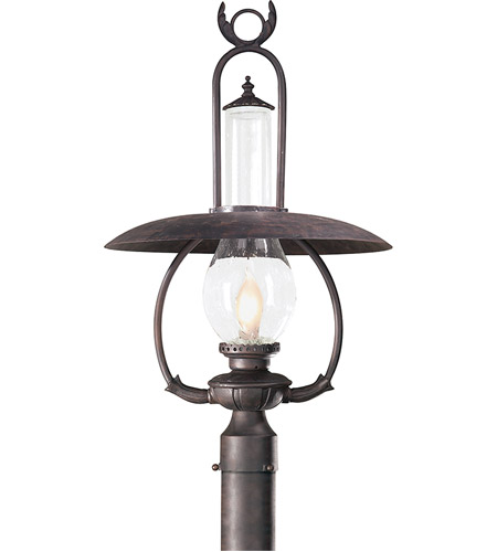 Troy Lighting PCD9012OBZ La Grange 1 Light 27 inch Old Bronze Post Lantern photo