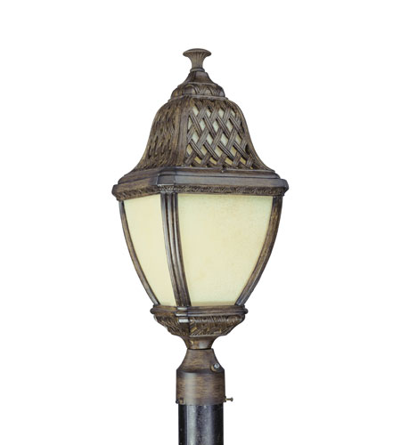 Troy Lighting Biscayne 1 Light Outdoor Post Lantern Fluorescent in Biscayne PF2085BI photo