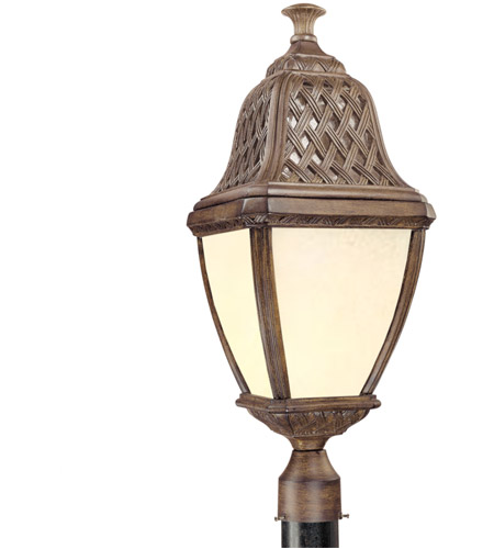 Troy Lighting PF2086BI Biscayne 1 Light 27 inch Biscayne Outdoor Post Lantern Fluorescent photo