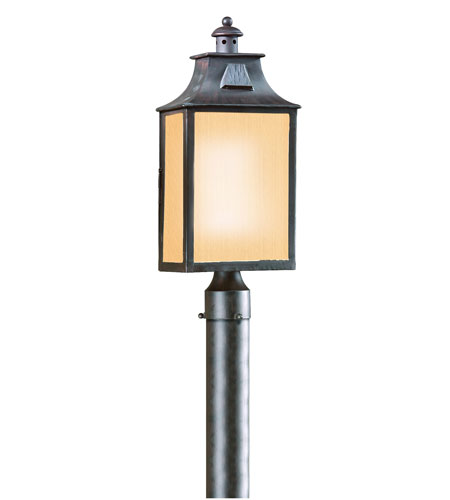Troy Lighting PF9003OBZ Newton 1 Light 21 inch Old Bronze Post Lantern in Fluorescent photo