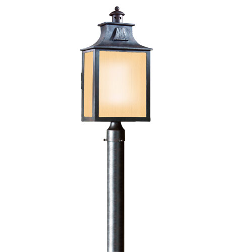 Troy Lighting PF9006OBZ Newton 1 Light 23 inch Old Bronze Post Lantern Fluorescent in Clear photo