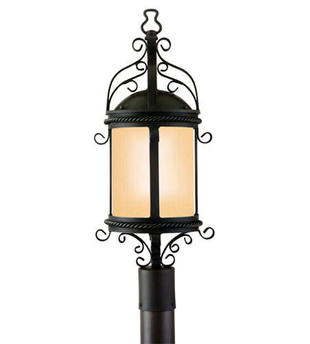 Troy Lighting Pamplona 1 Light Post Lantern Fluorescent in Old Bronze PF9123OBZ photo
