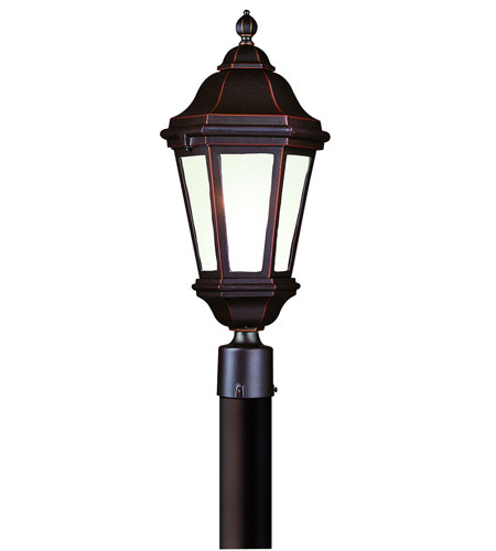 Troy Lighting Verona 1 Light Post Lantern Fluorescent in Antique Bronze PFCD6832ABZ photo