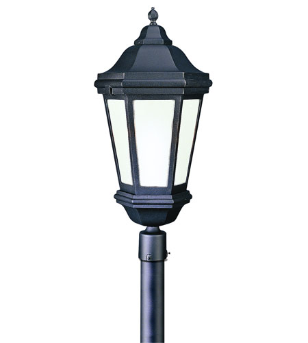 Troy Lighting Verona 3 Light Post Lantern Fluorescent in Matte Black PFCD6835MB photo