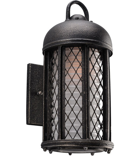 Troy Lighting B4481 Signal Hill 1 Light 13 inch Aged Silver Outdoor Wall Sconce in Incandescent photo thumbnail