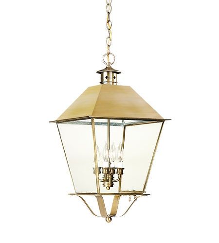 Troy Lighting FCD9142CI Montgomery 4 Light 14 inch Charred Iron Outdoor Hanging Lantern in Clear Seeded photo