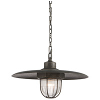 Troy Lighting F3897 Acme 1 Light 22 inch Aged Silver Pendant Ceiling Light in Incandescent