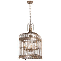Amelie 5 Light 16 inch Provence Rust with Gold Pendant Ceiling Light