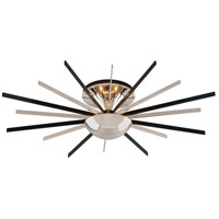 Atomic LED 25 inch Polished Nickel with Matte Black Semi-Flush Ceiling Light