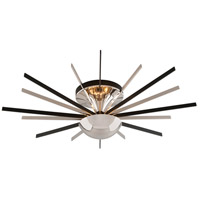 Atomic LED 36 inch Polished Nickel Semi-Flush Ceiling Light