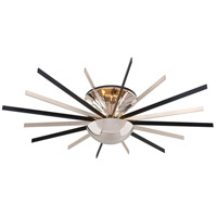 Atomic LED 48 inch Polished Nickel Semi-Flush Ceiling Light
