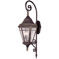 Morgan Hill 3 Light 38 inch Natural Rust Outdoor Wall Lantern