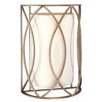 Sausalito 2 Light 10 inch Silver Gold Wall Sconce Wall Light