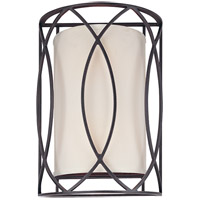 Troy Lighting Sausalito 2 Light Wall Sconce in Deep Bronze B1289DB