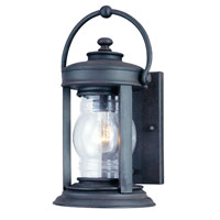 Troy Lighting Station Square 1 Light Outdoor Wall Lantern in Natural Rust B1411NR photo thumbnail