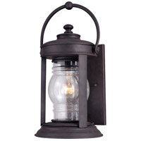 Troy Lighting Station Square 1 Light Outdoor Wall Lantern in Natural Rust B1412NR