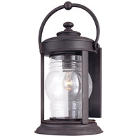 Troy Lighting Station Square 1 Light Outdoor Wall Lantern in Natural Rust B1413NR