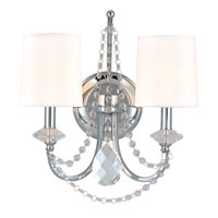 Troy Lighting Fountainbleau 2 Light Wall Sconce in Polish Chrome B1640PC