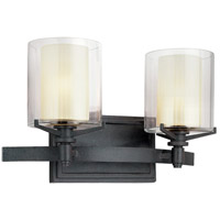 Troy Lighting Arcadia 2 Light Bath Vanity in French Iron B1712FR photo thumbnail