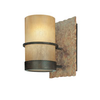 Bamboo 1 Light 6 inch Bamboo Bronze Bath Vanity Wall Light