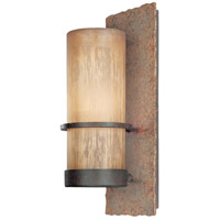 Bamboo 1 Light 14 inch Bamboo Bronze Outdoor Wall in Incandescent