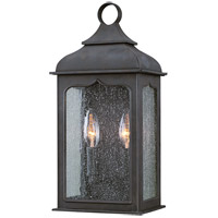 Henry Street 2 Light 15 inch Colonial Iron Outdoor Pocket Lantern in Incandescent