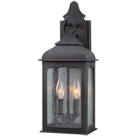 Henry Street 2 Light 19 inch Colonial Iron Outdoor Wall Lantern in Incandescent
