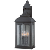 Henry Street 3 Light 23 inch Colonial Iron Outdoor Wall Lantern in Incandescent