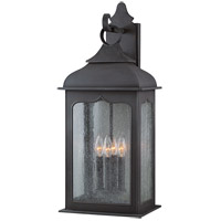 Troy Lighting B2013CI Henry Street 4 Light 27 inch Colonial Iron Outdoor Wall Lantern in Incandescent photo thumbnail