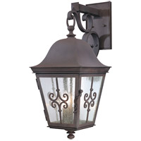Troy Lighting Markham 3 Light Outdoor Wall in Weathered Bronze B2353WB