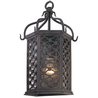 Los Olivos 1 Light 15 inch Old Iron Outdoor Wall Pocket in Incandescent