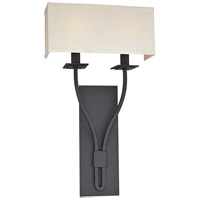 Troy Lighting Palladium 2 Light Wall Sconce in Federal Bronze B2462FB