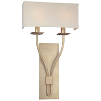 Troy Lighting Palladium 2 Light Wall Sconce in Silver Leaf B2462SL
