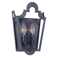 Troy Lighting Rhodes 2 Light Wall Sconce in Old Silver B2572