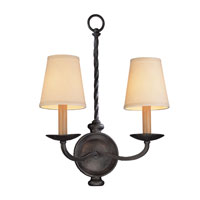 Alexander 2 Light 13 inch English Iron Wall Sconce Wall Light