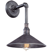 Toledo 1 Light 15 inch Old Silver Outdoor Wall