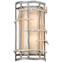 Troy Lighting B2882 Adirondack 2 Light 9 inch Graphite And Silver ADA Wall Sconce Wall Light in Incandescent