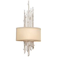 Troy Lighting Adirondack 2 Light Wall Sconce in Silver Leaf Finish B2892
