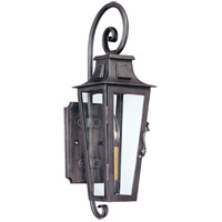 Parisian Square 1 Light 19 inch Aged Pewter Outdoor Wall Lantern in Incandescent